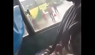 Dude Strectching Dig up In A Nairobi Public Bus and Nutting