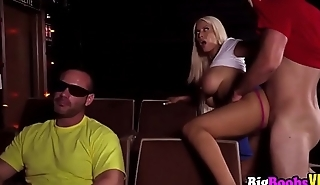 massive tits blonde Bridgette B is horny at the theater