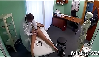 Hawt doctor begins making out right in the fake hospital