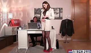 Victoria Daniels slut wife give office sucking dick on camera