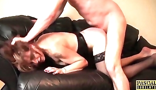 British subslut punished and hardfucked before tasting cum