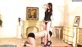 Japanese Femdom Risa Whipping Card Games