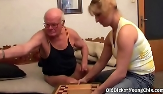 Old Dude Wins Some Pussy in Chess