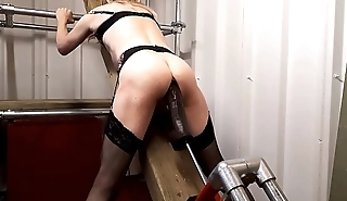 RachelSexyMaid - No. 14 - Dungeon 13 Inch Black Dildo Session