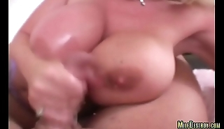 Bigtit Milf Makes a Guy Jizz on Her Tits