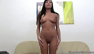 Tanned dreamboat toys at lesbian casting