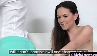Lesbian agent licks pussy during sexaudition