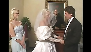 Fetish bride in satin wedding dress gets a hard rough DP