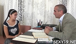 Enjoyable darling is object hardcore spooning from old slavemaster