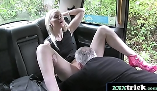 Horny Blonde Lexi Lou Fucked In The Ass On Taxi Bonnet